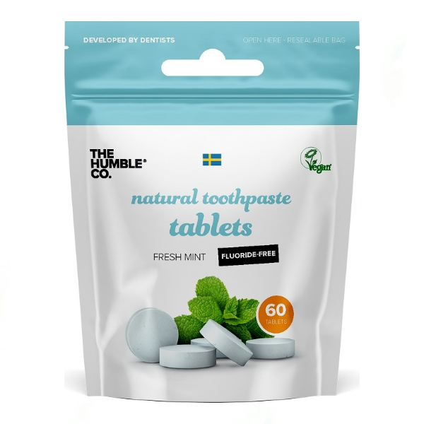 The Humble Co. Natural Toothpaste Tablets Fresh Mint Fluoride Free 60 Τεμ