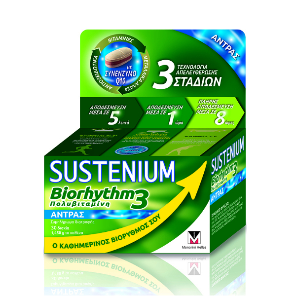 Sustenium Biorhythm 3 Multivitamin Man 30Tabls