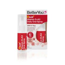 BetterYou Dlux+ Vitamin D + K2 Daily Oral Spray 12 ml