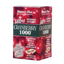 Nature's Plus Ultra Cranberry 1000 mg +C X 60 Tabs