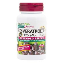 Nature's Plus Extended Release Resveratrol 125 mg X 60 Tabs