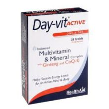 Health Aid Day-Vit Active Co-Q-10 Ginseng -Blister 30S