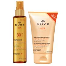 Nuxe Sun Tanning Oil For Face & Body Spf 30 150 ml + Δώρο Nuxe Sun Refreshing After-Sun Lotion For Face & Body 100 ml