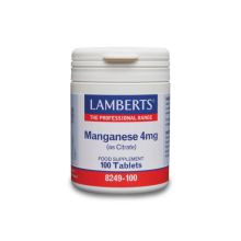Lamberts Manganese 4 mg (As Citrate) x 100 Tabs