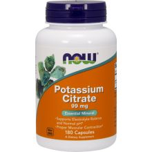 Now Foods Potassium Citrate 99 mg x 180 Vcaps