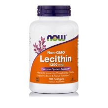 Now Foods Non-GMO Lecithin 1200 mg x 100 Softgels