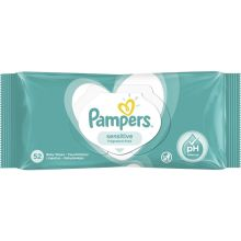 Pampers Sensitive Baby Wipes x 52 Τμχ
