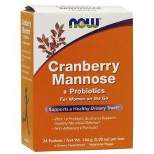 Now Foods Cranberry Mannose Probiotics For Women On The Go x 24 Packets