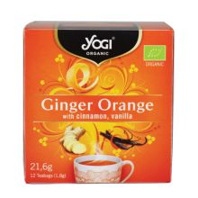 Yogi Tea Organic Ginger Orange 12 Teabags 24gr