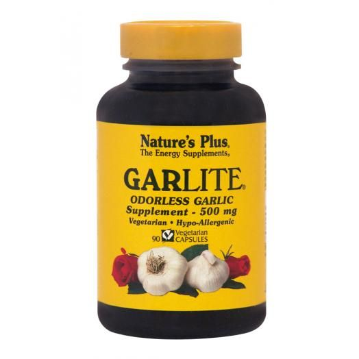 Nature's Plus Garlite 500 mg X 90 Veggie Caps