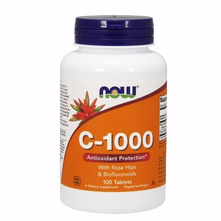 Now Foods C-1000 With Rose Hips & Bioflavonoids X 100 Tabs