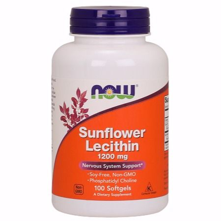 Now Foods Lecithin Sunflower 1200 mg X 100 Softgels