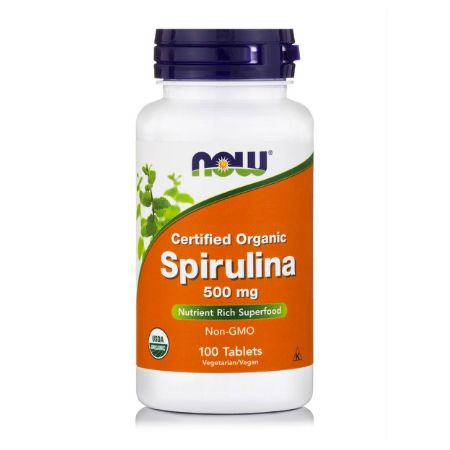 Now Foods Spirulina 500 mg X 100 Tabs