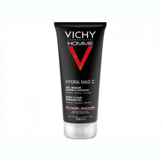 Vichy Homme Mag-C Shower Gel 200 ml