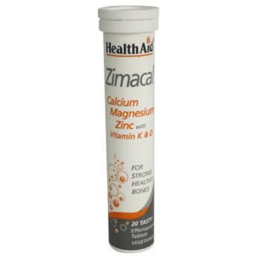 Health Aid Zimacal  Lime Minerals X 20 Effervescents Tabs