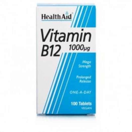 Health Aid Vitamin B12 1000mg X 50 Tabs