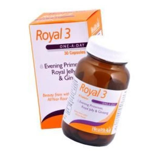 Health Aid Royal +3 (Royal Jelly + E.P.O. + Korean Ginseng) X 30 Caps