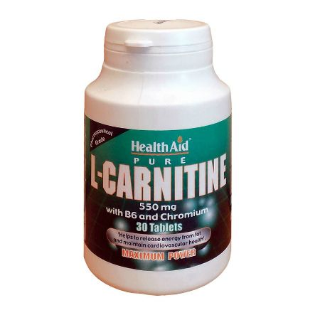Health Aid L-Carnitine 550 mg X 30 Caps