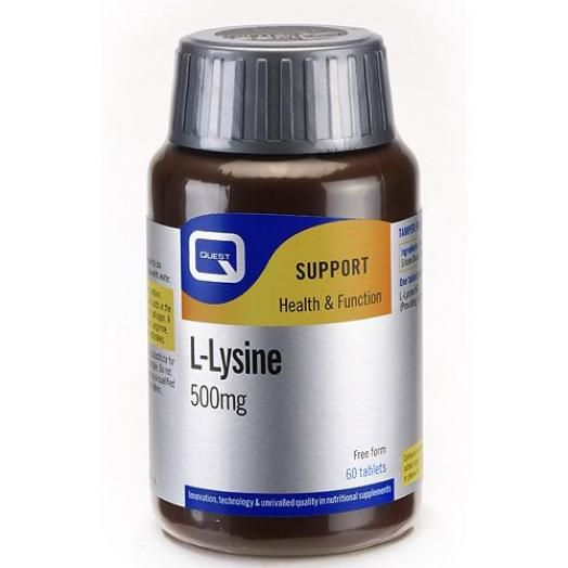 Quest  L-Lysine 500mg Tabs 60S