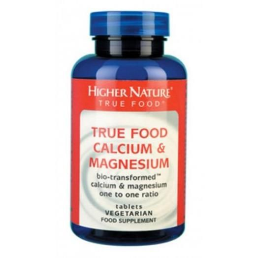 Higher Nature True Food Calcium & Magnesium X 60 Veggie Tabs