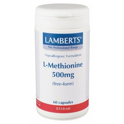 Lamberts L-Methionine 500 mg X 60 Caps