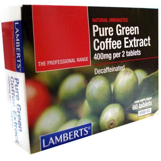 Lamberts Pure green Coffee Extract X 60 Tabs