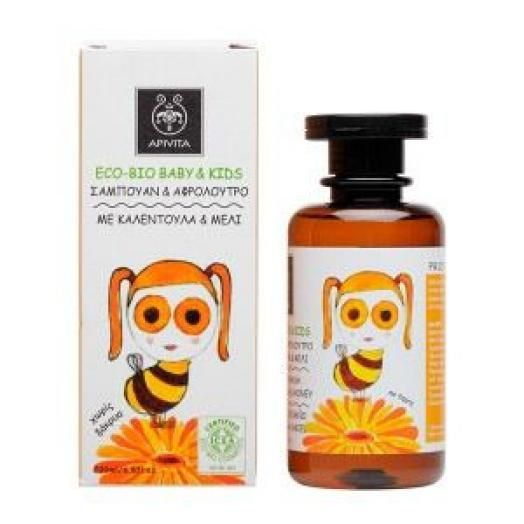 Apivita Eco-Bio Baby & Kids Hair And Body Wash 200ml (Καλέντουλα + Μέλι)