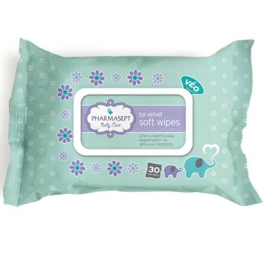 Pharmasept Tol Velvet Baby Soft Wipes X 30 Τμχ