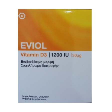 Eviol Vitamin D3 1200 IU X 60 Soft gels