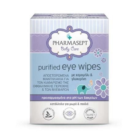 Pharmasept Baby Purified Eye Wipes X 10 Τμχ