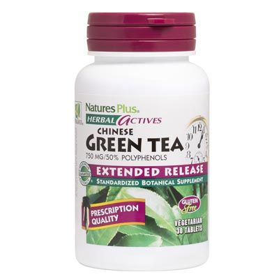 Nature's Plus green Tea 750 mg X 30 Tabs