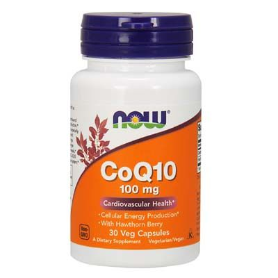 Now Foods CoQ10 100 mg with Hawthorn Berry Vegetarian 30 Vcaps
