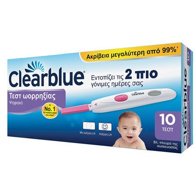 Clearblue Ψηφιακό Τεστ Ωορρηξίας x 10 Τμχ