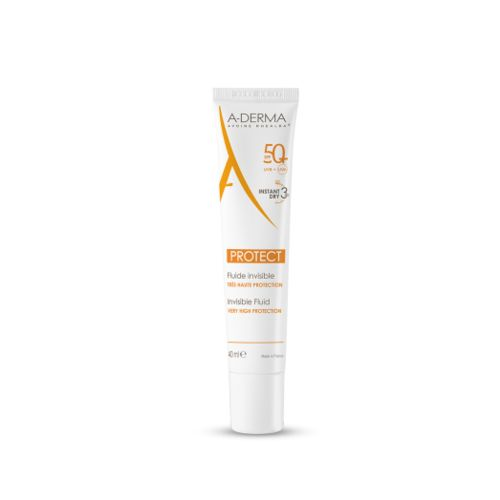 A-derma Sun Protect Invisible Fluid Spf 50+ 40 Ml