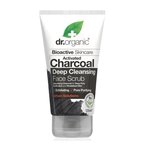 Dr.Organic Activated Charcoal Deep Cleansing Face Scrub 125 ml