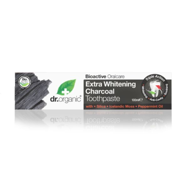 Dr.Organic Εxtra Whitening Charcoal Toothpaste 100 ml