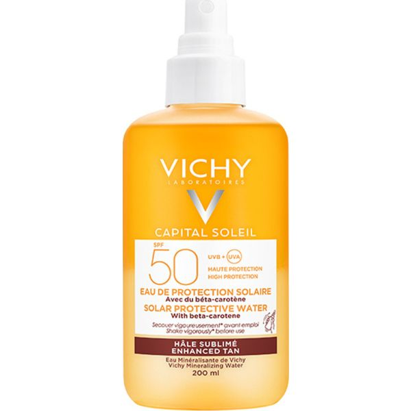 Vichy Capital Soleil Sun Protective Water Με Βήτα Καροτίνη Spf50 200 ml