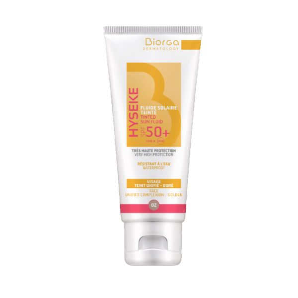 Biorga Hyseke Tinted Sun Fluid 02 Golden Spf50+ 40ml