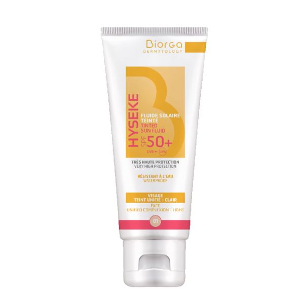 Biorga Hyseke Tinted Sun Fluid 01 Light Spf50+ 40ml