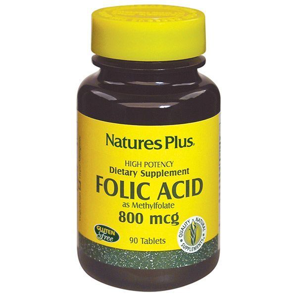 Nature's Plus Folic Acid 800 mcg 90 Τabs