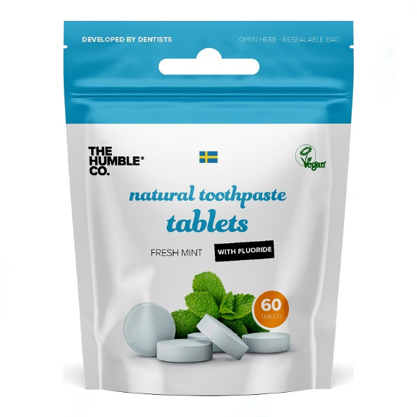 The Humble Co. Natural Toothpaste Tablets Fresh Mint with Fluoride 60 Τεμ