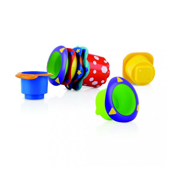 Nuby Stacking Cups Κύπελλα Στοίβαξης 6+ μηνών 1 Τεμ