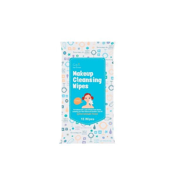 Cettua Clean & Simple Make up Cleansing Wipes 15Τεμ