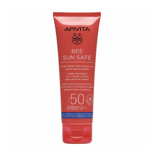 Apivita Travel Size Bee Sun Safe Hydra Fresh Face & Body Milk Spf50 100ML