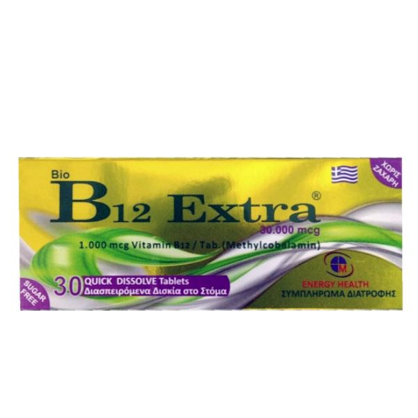 Bio B12 Extra 1000mg 30Tabls