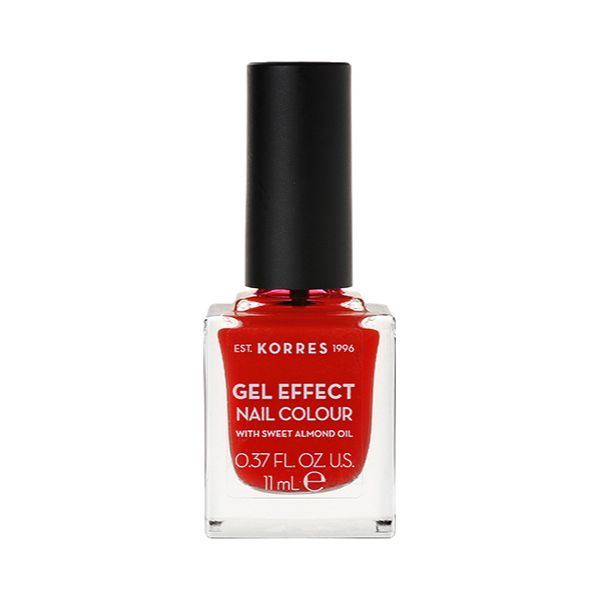 Korres Gel Effect Nail Colour Με Αμυγδαλελαιο Νo 48 Coral Red 11ml